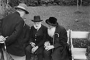 Four Jewish Men Talking on Benches, Bad Hall, Austria, 1929