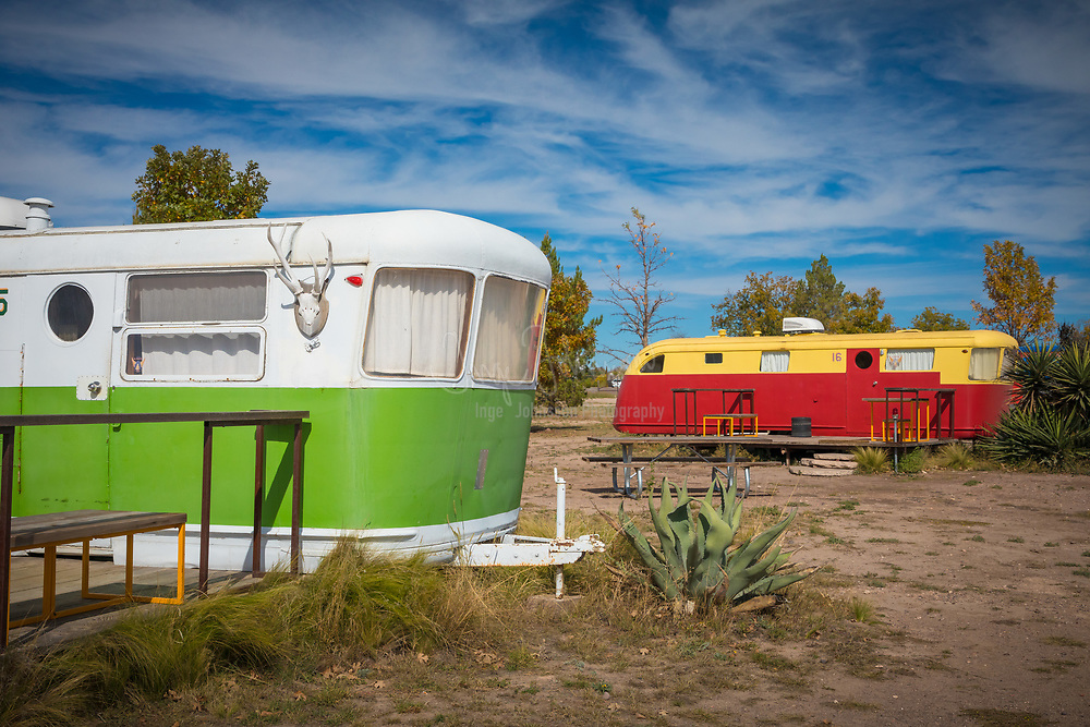 El Cosmico lodging in Marfa, Texas