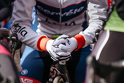 Nicole Hanselmann collects her thoughts before the start is given in Ieper - Women's Gent Wevelgem 2016, a 115km UCI Women's WorldTour road race from Ieper to Wevelgem, on March 27th, 2016 in Flanders, Netherlands.