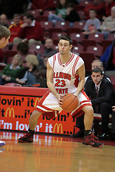 31 December 2008: Landon Shipley.  Illinois State University Redbirds extended their record to 13-0 with an 80-50 win over the Evansville Purple Aces on Doug Collins Court inside Redbird Arena on the campus of Illinois State University in Normal Illinois