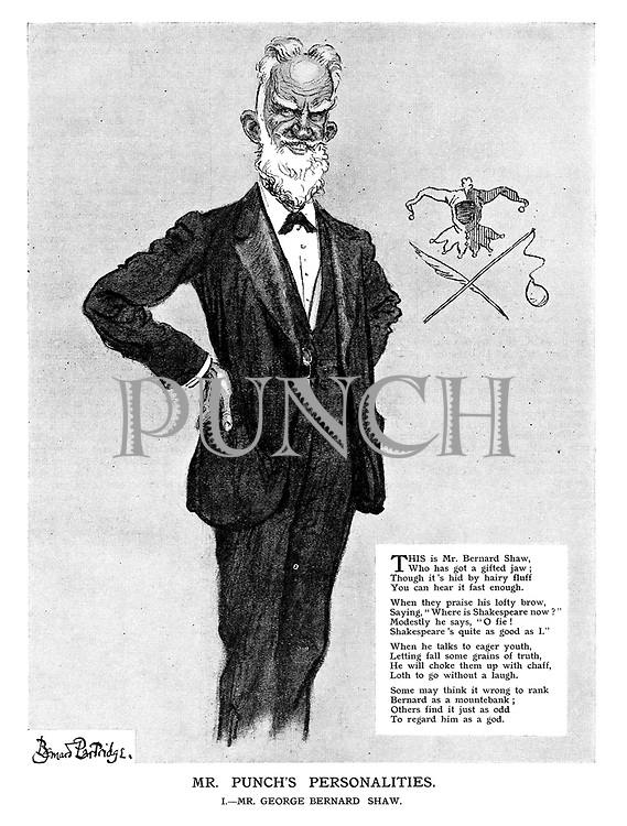 Mr. Punch's Personalities. I. - Mr. George Bernard Shaw.
