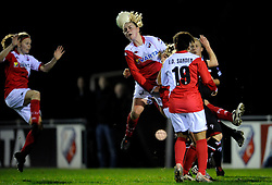 12-11-2009 VOETBAL: FC UTRECHT -AZ VROUWEN: UTRECHT<br /> Utrecht verliest met 1-0 van AZ / Roos Kwakkenbos<br /> ©2009-WWW.FOTOHOOGENDOORN.NL