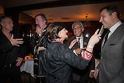 TONY BLAIR; STEPHEN FRY; CHERIE BLAIR; SIR DAVID TANG; DAVID WALLIAMS, Chinese New Year dinner given by Sir David Tang. China Tang. Park Lane. London. 4 February 2013.