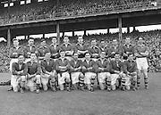 Neg No:.558/7546-7649..1081954AISFCSF..01.08.1954, 08.01.1954, 1st August 1954.All Ireland Senior Football Championship - Semi-Final.Meath.1-5.Cavan.0-7...Meath. .P. McGearty, M. O'Brien, P. O'Brien, K. McConnell, K. Lenehan, J. Reilly, E. Durnin, P. Connell, T. O'Brien, M. Grace, B. Smyth, M. McDonnell, P. Meegan, T. Moriarty, P. McDermott. (Captain)