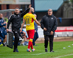 Partick Thistle's manager Ian McCall. Dundee 1 v 3 Partick Thistle, Scottish Championship game player 19/10/2019 at Dundee stadium Dens Park.