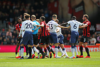Football - 2018 / 2019 Premier League - AFC Bournemouth vs. Tottenham Hotspur<br /> <br /> Tempers flare between the two sides late in the second half during the Premier League match at the Vitality Stadium (Dean Court) Bournemouth  <br /> <br /> COLORSPORT/SHAUN BOGGUST