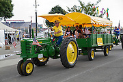 Vintage Tractor (1941 John Deere) at the Indiana State Fair, Indianapolis, Indiana, USA