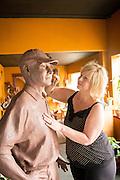 Heather Soderberg works on a sculpture of the Last Living Flying Tiger Ken Jernstedt of Hood River, in her Cascade Locks studio.