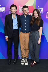 James Righton , Simon Amstell and Keira Knightley and attending the Benjamin Premiere as part of the BFI London Film Festival at BFI in London.