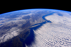 February 14, 2016 - Earth Atmosphere - Astronaut Scott Kelly posted this photo of the polar vortex taken from the International Space Station to Twitter on February 14, 2016 with the caption, That polarvortex even looks cold from here! Burr! YearInSpace. (Credit Image: ? Scott Kelly/NASA via ZUMA Wire/ZUMAPRESS.com)