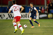 FRISCO, TX - JANUARY 31:  Ali Krieger #11 of the U.S. Women's National Team controls the ball against the Canadian Women's National Team on January 31, 2014 at Toyota Stadium in Frisco, Texas.  (Photo by Cooper Neill/Getty Images) *** Local Caption *** Ali Krieger