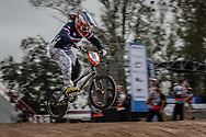 #50 (POTTIER Magalie) FRA at the 2014 UCI BMX Supercross World Cup in Santiago Del Estero, Argentina.