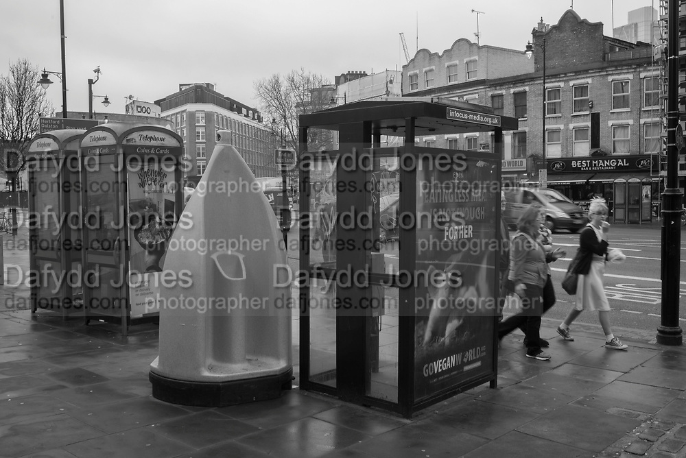 Telephone boxes and urinal, Old St. London. 10 March 2017