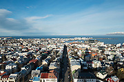View of the city of Reykjavik. Iceland