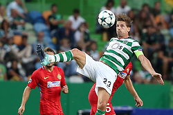 August 15, 2017 - Lisbon, Portugal - Sporting's midfielder Adrien Silva from Portugal in action during the UEFA Champions League play-offs first leg football match between Sporting CP and FC Steaua Bucuresti at the Alvalade stadium in Lisbon, Portugal on August 15, 2017. Photo: Pedro Fiuza (Credit Image: © Pedro Fiuza via ZUMA Wire)