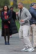 Apr 06, 2016 - New York City, NY, USA - Actors Will Smith and Naomie Harris were on the Central Park set of the new movie 'Collateral Beauty' . Also Keira Knightley and Helen Mirren <br />