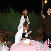Miss Nederland 2003 reis Turkije, diner aan zee, hotel, koud