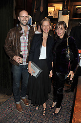 Left to right, TOM EDMUNDS, DEBORAH BRETT and CAROL SILLER at a reception hosted by Ralph Lauren Double RL and Dexter Fletcher before a private screening of Wild Bill benefitting FilmAid held at RRL 16 Mount Street, London on 26th March 2012.