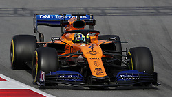 McLaren's Lando Norris during day two of pre-season testing at the Circuit de Barcelona-Catalunya.