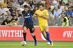 July 28, 2018 - Nice, France - Antonio Candreva (Inter Milan) - Alvaro Morata  (Credit Image: © Panoramic via ZUMA Press)