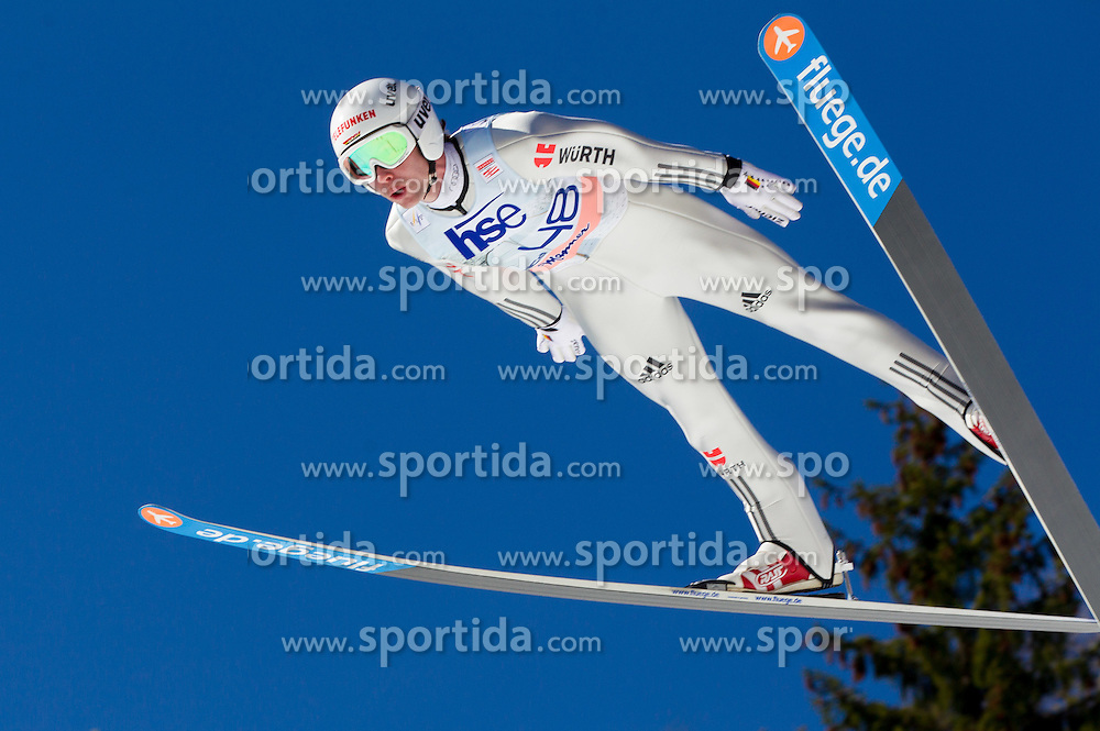 Maximilian Mechler of Germany during Flying Hill Individual Qualifications at 1st day of FIS Ski Jumping World Cup Finals Planica 2012, on March 15, 2012, Planica, Slovenia. (Photo by Vid Ponikvar / Sportida.com)