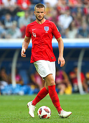 July 14, 2018 - Saint Petersburg, Russia - Eric Dier of the England national football team vie for the ball during the 2018 FIFA World Cup Russia 3rd Place Playoff match between Belgium and England at Saint Petersburg Stadium on July 14, 2018 in St. Petersburg, Russia. (Credit Image: © Igor Russak/NurPhoto via ZUMA Press)