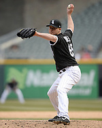 CHICAGO - APRIL 11:  Nate Jones #65 of the Chicago White Sox pitches against the Tampa Bay Rays on April 11, 2018 at Guaranteed Rate Field in Chicago, Illinois.  (Photo by Ron Vesely)  Subject:   Nate Jones
