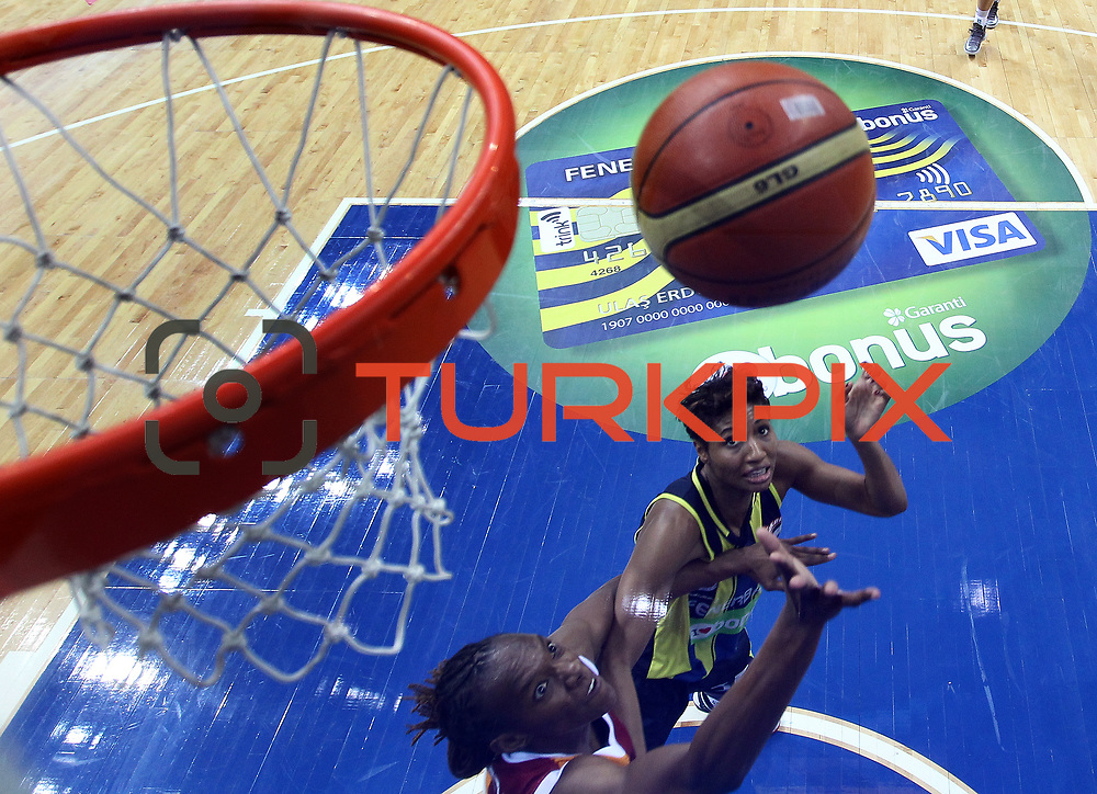 Fenerbahce's Angel MCoughtry (B) during their Turkish Basketball woman league derby match Fenerbahce between Galatasaray at Ulker Sports Arena in Istanbul, Turkey, wednesday, December 26, 2012. Photo by Aykut AKICI/TURKPIX