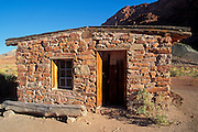 Afternoon light on the post office at Lees Ferry, Lees Ferry National Historic Site, Glen Canyon, Arizona