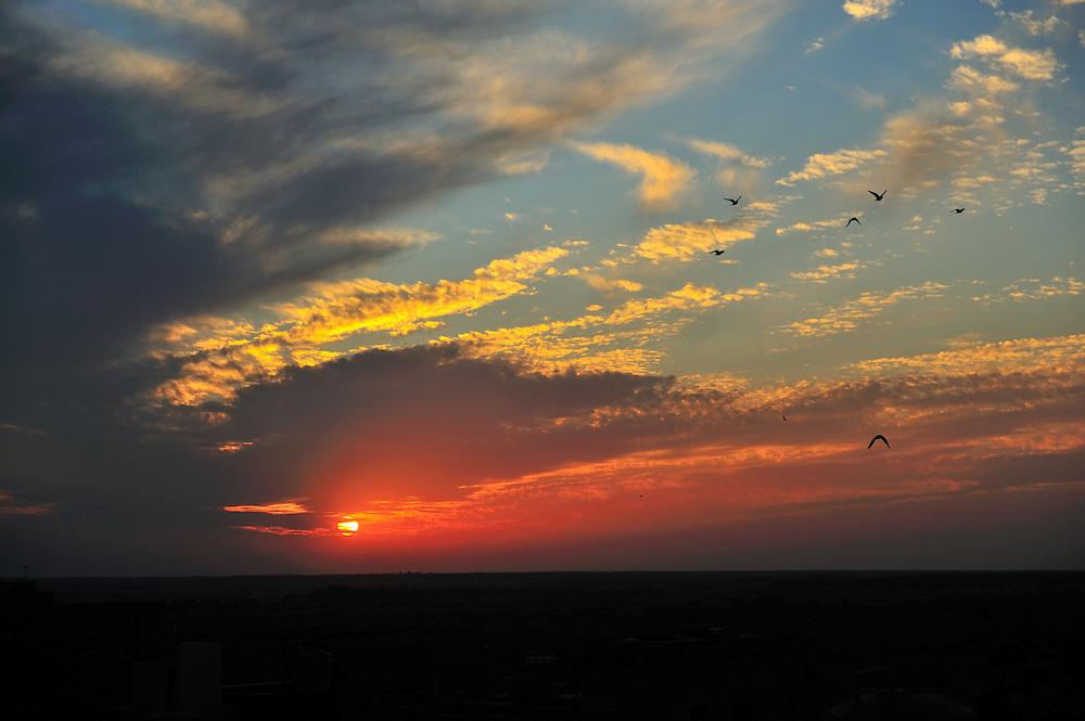 Sun set over Jaisalmer