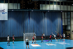 Action during handball match between RK Trimo Trebnje and Rhein-Neckar Loewen in 6th Round of EHF Europe League 2020/21, on February 9, 2021 in Hala Tivoli, Ljubljana, Slovenia. Photo by Vid Ponikvar / Sportida