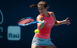 March 23, 2019 - Miami, Florida, U.S. - JULIA GOERGES of Germany in action during her third-round match at the 2019 Miami Open WTA Premier Mandatory tennis tournament. (Credit Image: © AFP7 via ZUMA Wire)
