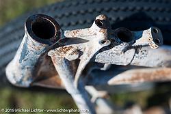 Rare HD frame at the AMCA swap meet in New Smyrina, FL during Daytona Bike Week, FL., USA. March 8, 2014.  Photography ©2014 Michael Lichter.