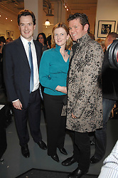 Left to right, GEORGE OSBORNE MP, FRANCES OSBORNE and CAMBRIDGE JONES at an exhibition of photographs commissioned by children's charity Barnardo's held at the Getty Images gallery, Eastcastle Street, London on 24th April 2008.<br /><br />NON EXCLUSIVE - WORLD RIGHTS