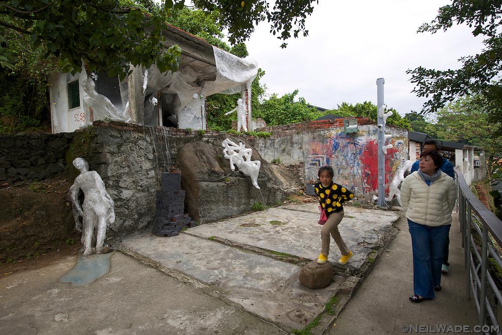 There are public art displays around every corner in Treasure Hill, Taipei, Taiwan.
