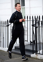 © Licensed to London News Pictures. 26/04/2016. London, UK. Secretary of state for health JEREMY HUNT leaves his London home to go running on the morning of the first all-out junior doctors strike. Photo credit: Ben Cawthra/LNP