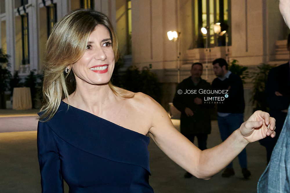 Begona Gomez attends Commemorative dinner of the 40th anniversary of the International Tourism at Palacio de Cibeles on January 21, 2020 in Madrid, Spain
