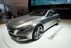 Mercedes concept S-Class Coupe at Tokyo Motor Show 2013 in Japan