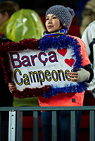 BARCELONA, SPAIN - NOVEMBER 29: Fan of Barcelona during the La Liga match between Barcelona and Real Madrid at the Camp Nou Stadium on November 29, 2010 in Barcelona, Spain. (Photo by Manuel Queimadelos/DPPI)