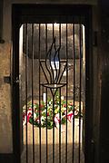 Cela Ojca Maksymiliana Kolbe w podziemiach Bloku 11. KL Auschwitz.; Father Maximilian Kolbe's Cell in the basement of Block 11; Auschwitz I concentration camp.