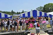 Henley on Thames. United Kingdom. Abingdon School,  celebrate after winning The Princess Elizabeth Challenge Cup.  2013 Henley Royal Regatta, Henley Reach. 12:53:23  Sunday  07/07/2013  [Mandatory Credit; Peter Spurrier/ Intersport Images]