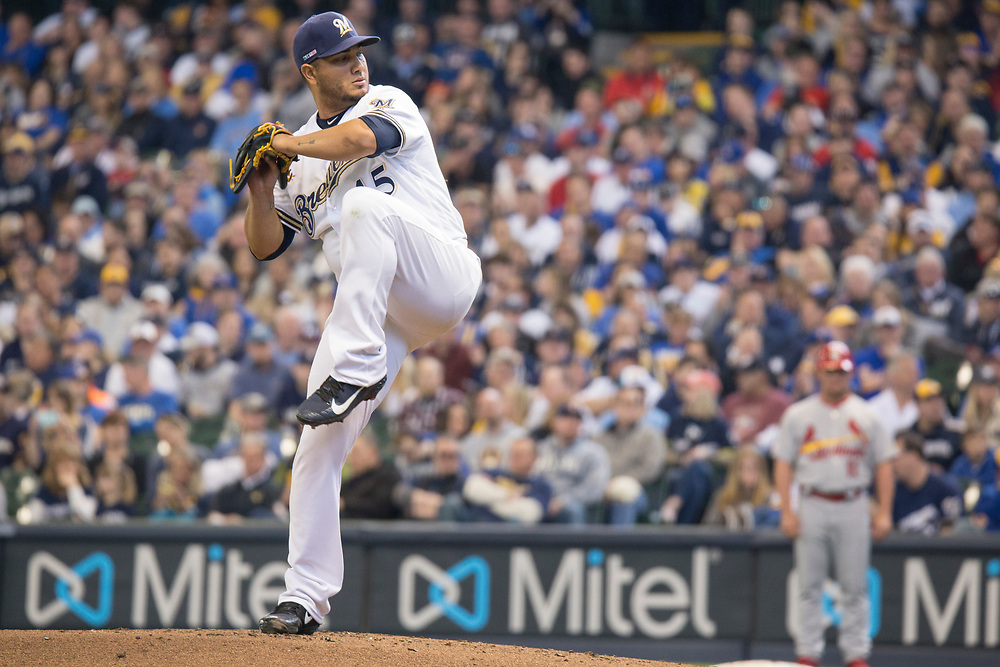 Jhoulys Chacin gets the start for the Milwaukee Brewers on Opening Day 2019 on March 28, 2019.