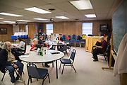 DURANT, OKLAHOMA - MARCH 24:  Locals sing hymns at the Bryan County Retired Senior Volunteer Program in Durant, Oklahoma on March 24, 2017. (Photo by Cooper Neill for The Washington Post)