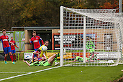 Forest Green Rovers Christian Doidge(9) goes close at the far post during the Vanarama National League match between Forest Green Rovers and Aldershot Town at the New Lawn, Forest Green, United Kingdom on 5 November 2016. Photo by Shane Healey.