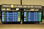 Israel, Ben-Gurion International airport Terminal 3, departure board