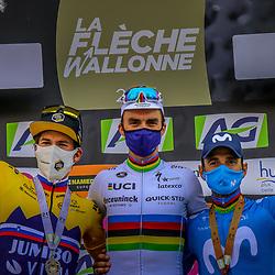 21-04-2021: Wielrennen: Waalse Pijl Elite Men: Huy<br /> Primoz Roglic, Julian Alaphillipe, Alejandro Valverde