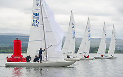 Day1 Etchells Start off Greenock with one design fleet. <br /> <br /> GBR 1115, Etchells, Defiance, RGYC<br /> <br /> The Scottish Series, hosted by the Clyde Cruising Club is an annual series of races for sailing yachts held each spring. Normally held in Loch Fyne the event moved to three Clyde locations due to current restrictions. <br /> <br /> Light winds did not deter the racing taking place at East Patch, Inverkip and off Largs over the bank holiday weekend 28-30 May. <br /> <br /> Image Credit : Marc Turner / CCC