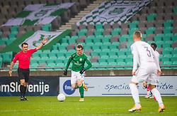 77# Stefan Savic of NK Olimpija Ljubljana during the match of 17th Round of Prva liga Telekom Slovenije between NK Olimpija Ljubljana and NK CB24 Tabor Sezana, on 12.12.2020 on Stadium Stozice in Ljubljana, Slovenia. Photo by Urban Meglič / Sportida