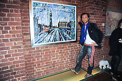 Artist SACHA JAFRI at a private view of Sacha Jafri's paintings entitled 'London to India' held in aid of The Elephant Family charity at 23 Macklin Street, Covent Garden, London on 3rd June 2010.