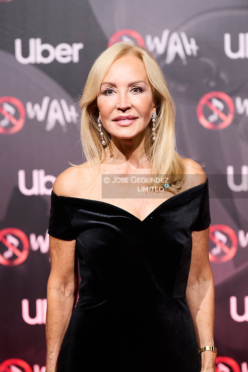 Carmen Lomana attends 'Wah' Musical Show World Premiere Red Carpet at IFEMA on October 7, 2021 in Madrid, Spain